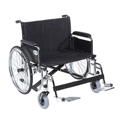 "FEI: Sentra EC Heavy Duty Extra Wide Wheelchair, Detachable Full Arms, Swing away Footrests, 28"" Seat - 43-1928 - Actual Image"