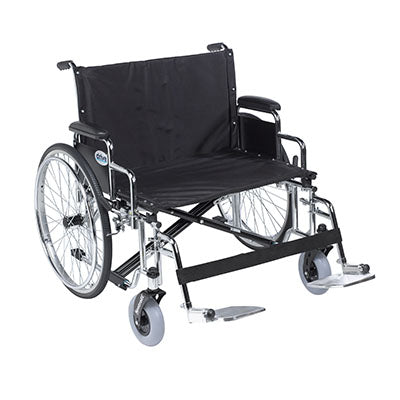 FEI: Sentra EC Heavy Duty Extra Wide Wheelchair, Detachable Desk Arms, Swing away Footrests, 30