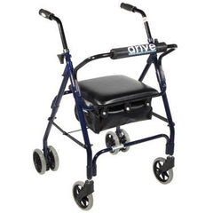 FEI: 4-wheel Rollator with push brake, Color blue - 43-2140 - Actual Image