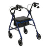 Image of FEI: 4-wheel Rollator with loop brake, Color blue - 43-2150 - Back View