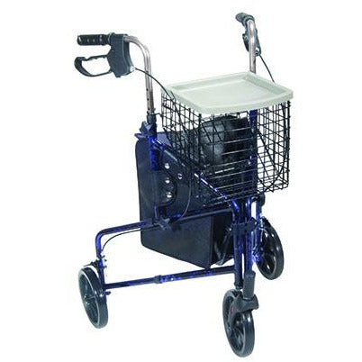 FEI: 3-wheel Rollator with loop brake, Color blue - 43-2160 - Actual Image
