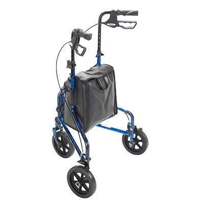 FEI: 3-wheel Rollator with loop brake, Color blue - 43-2160 - Back View