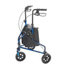 Image of FEI: 3-wheel Rollator with loop brake, Color blue - 43-2160 - Side View