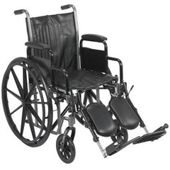 "FEI: 16"" wheelchair with removable desk armrest, swing away elevating leg rest - 43-2231 - Actual Image"