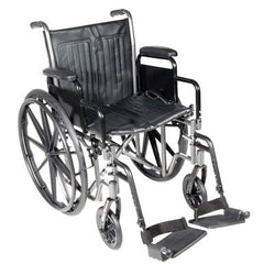 "FEI: 18"" wheelchair with fixed arm, swing away footrest - 43-2251 - Actual Image"