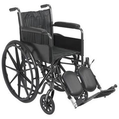 "FEI: 18"" wheelchair with fixed arm, swing away elevating leg rest - 43-2252 - Actual Image"