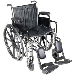 "FEI: 18"" wheelchair with detachable desk arm, swing away elevating leg rest - 43-2261 - Actual Image"