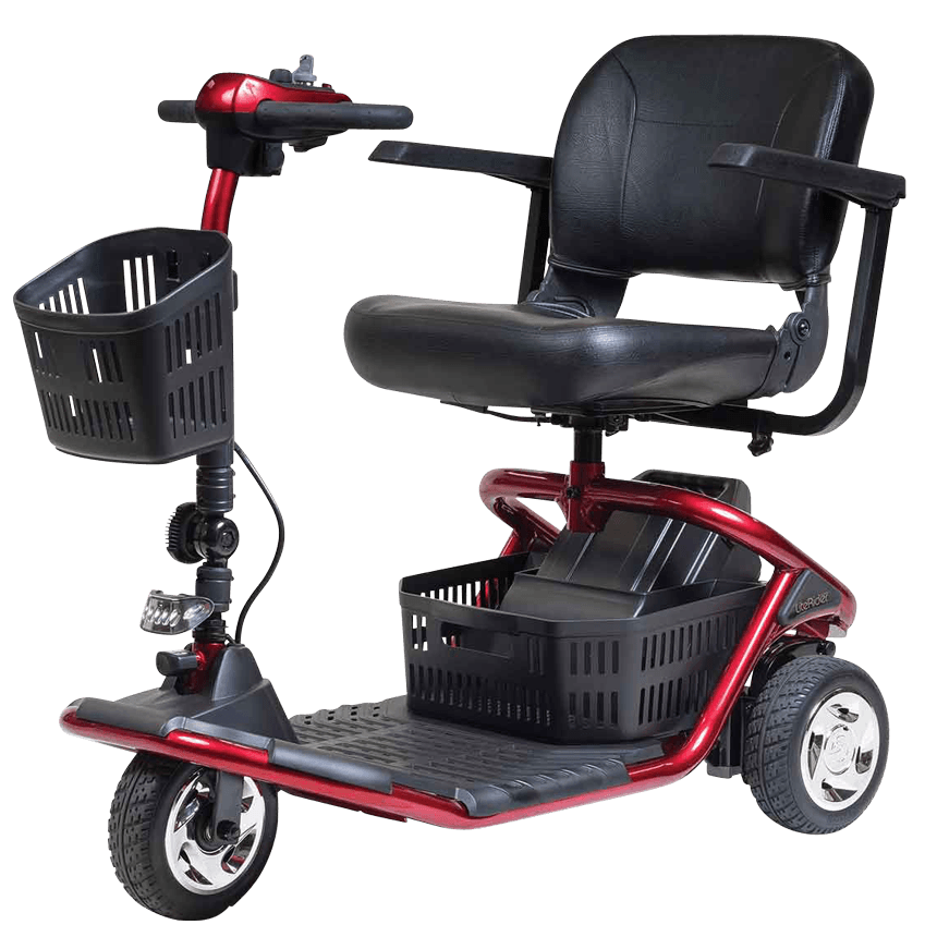 Golden Technologies: LiteRider 3 Wheel Scooter-Golden Technologies-Scooters 'N Chairs