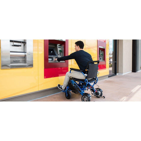 Geocruiser (Pathway Mobility): Geo Cruiser DX Lightweight Foldable Power Chair (Blue) - GC-216B-01 - Actual View
