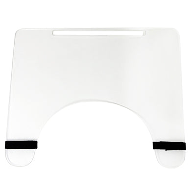 FEI: Wheelchair tray clear acrylic with rim and straps - 50-1302 - Front View