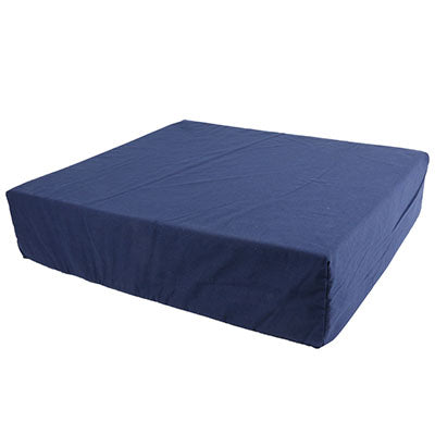 "FEI: Wheelchair cushion with removable cover, foam, 16""x18""x4"" navy color - 50-1327 - Actual Image"