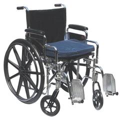 "FEI: Wheelchair cushion with removable cover, gel, 16""x18""x2"" navy color - 50-1360 - Actual Image"