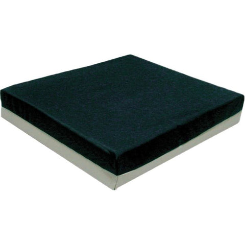"FEI: Wheelchair cushion with removable cover, gel/foam, 16""x18""x2"" navy color - 50-1362 - Actual Image"