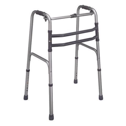 Healthsmart: DMI Single Release Folding Walkers, 2 Per Pack - 500-1015-0600