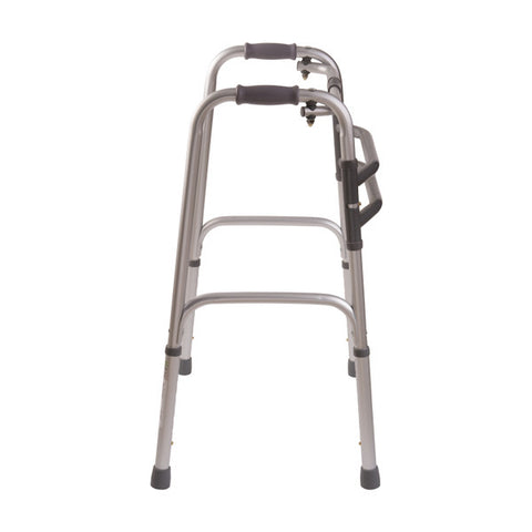 Healthsmart: DMI Single Release Folding Walkers, 2 Per Pack - 500-1015-0600 - Side View