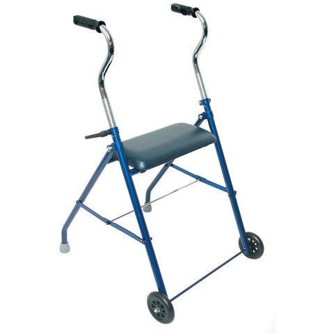 Healthsmart: DMI Steel Walker with Wheels and Seat - 500-1053-2100 - Side View