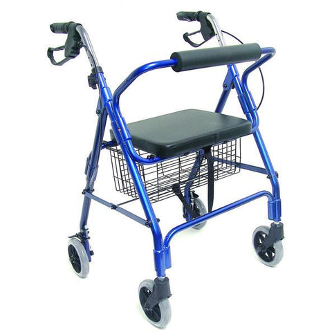 Healthsmart: Ultra Lightweight Folding Aluminum Rollator Walker - 501-1012-2100HS - Actual Image
