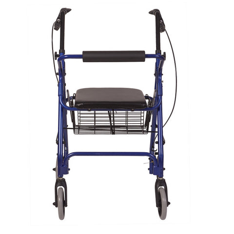 Healthsmart: Ultra Lightweight Folding Aluminum Rollator Walker - 501-1012-2100HS - Back View