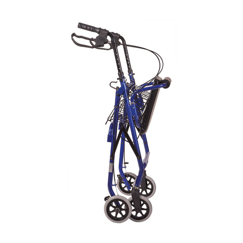 Healthsmart: Ultra Lightweight Folding Aluminum Rollator Walker - 501-1012-2100HS - Folding View