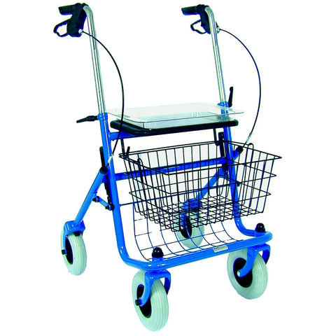 Healthsmart: DMI® Traditional Steel Rollator Walker With Padded Seat - 501-1013-0100 - Actual Image