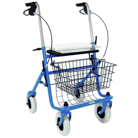 Healthsmart: DMI® Traditional Steel Rollator Walker With Padded Seat - 501-1013-0100 - Front View