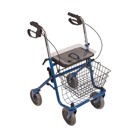 Healthsmart: DMI® Traditional Steel Rollator Walker With Padded Seat - 501-1013-0100 - Tray