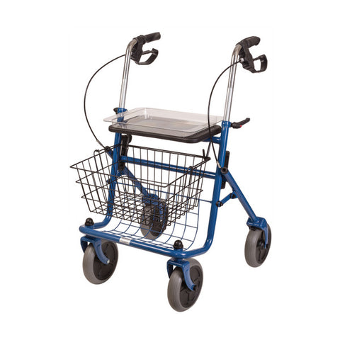 Healthsmart: DMI® Traditional Steel Rollator Walker With Padded Seat - 501-1013-0100 - Side View