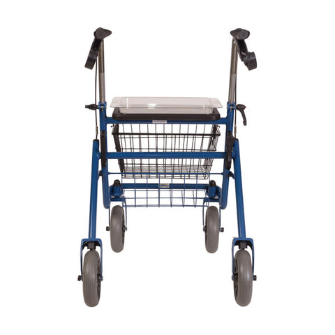 Healthsmart: DMI® Traditional Steel Rollator Walker With Padded Seat - 501-1013-0100 - Back View