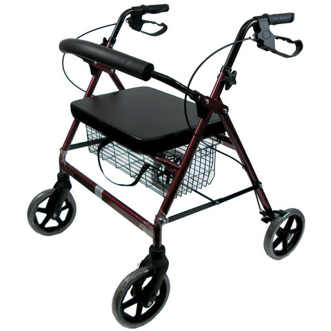 Healthsmart: Dmi® Extra-Wide Heavy Duty Steel Bariatric Rollator Walker - 501-1032-0700 - Actual Image