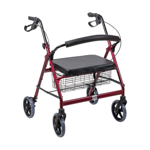 Healthsmart: Dmi® Extra-Wide Heavy Duty Steel Bariatric Rollator Walker - 501-1032-0700 - Side View