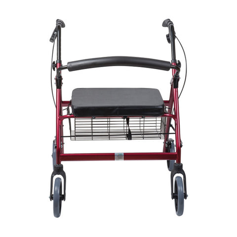Healthsmart: Dmi® Extra-Wide Heavy Duty Steel Bariatric Rollator Walker - 501-1032-0700 - Front View