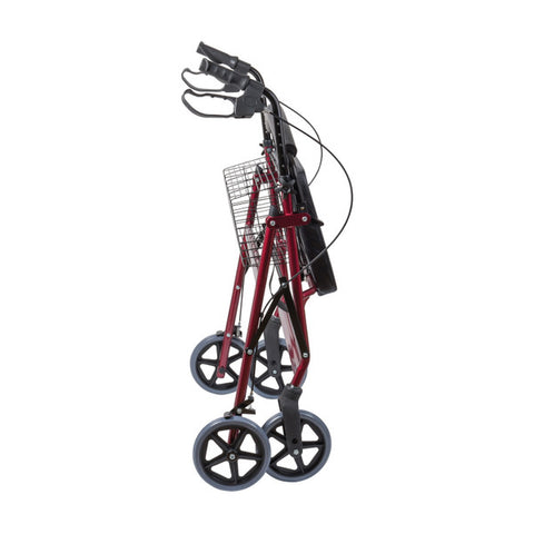 Healthsmart: Dmi® Extra-Wide Heavy Duty Steel Bariatric Rollator Walker - 501-1032-0700 - Folding