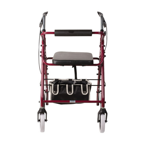 Healthsmart: DMI Lightweight Adjustable Seat Aluminium Rollator Walker - 501-1048-0700 - Front View