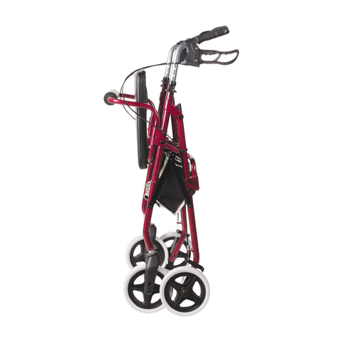 Healthsmart: DMI Lightweight Adjustable Seat Aluminium Rollator Walker - 501-1048-0700 - Folded View