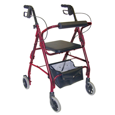 Healthsmart: DMI Lightweight Adjustable Seat Aluminium Rollator Walker - 501-1048-0700