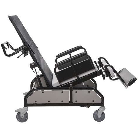 Convaquip: Tilt/Recline Bariatric Chair - 750-TRC - reclining back in the full recline position and seat in reverse tilt position