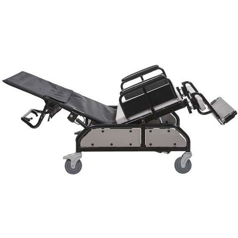 Convaquip: Tilt/Recline Bariatric Chair - 750-TRC - reclining back in full upright position and seat in forward tilt position