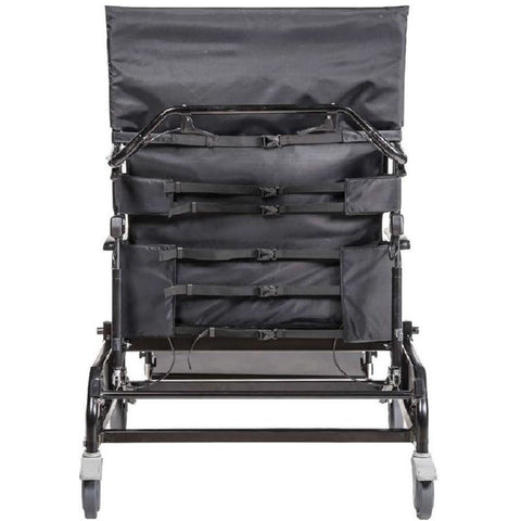 Convaquip: Tilt/Recline Bariatric Chair - 750-TRC - back upholstery features adjustable straps to allow upholstery to conform to the user