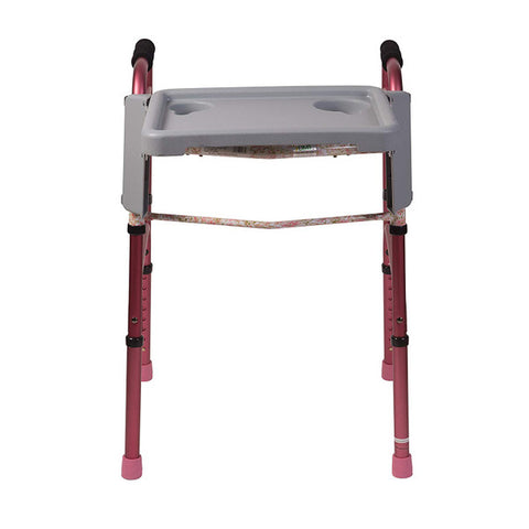 Healthsmart: DMI Folding Walker Tray With Cup Holders - 510-1084-0300 - Front View