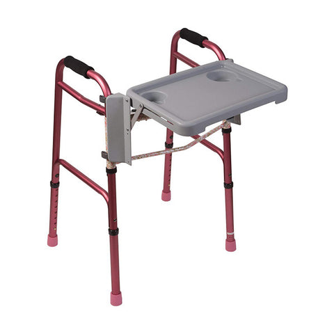 Healthsmart: DMI Folding Walker Tray With Cup Holders - 510-1084-0300 - Adjust With Walker