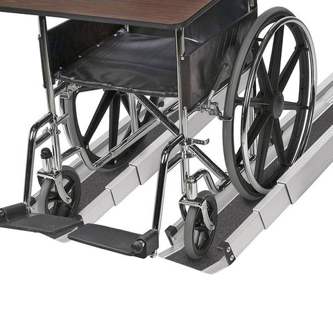 Healthsmart: DMI Retractable Lightweight Portable Wheelchair Ramps - 517-4094-0000 - Easy Use