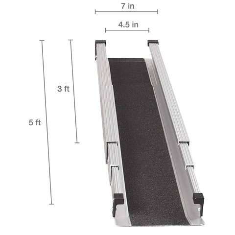Healthsmart: DMI Retractable Lightweight Portable Wheelchair Ramps - 517-4094-0000 - Size