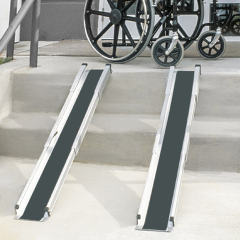 Healthsmart: DMI Retractable Lightweight Portable Wheelchair Ramps - 517-4094-0000 - Actual Image