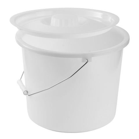 Healthsmart: Dmi® 12-Quart Commode Pails With Lid - 520-1210-1900 - Side View