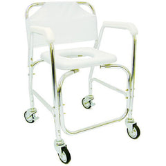 Healthsmart: Dmi® Rolling Shower Padded Transport Chair - 522-1702-1900 - Actual Image
