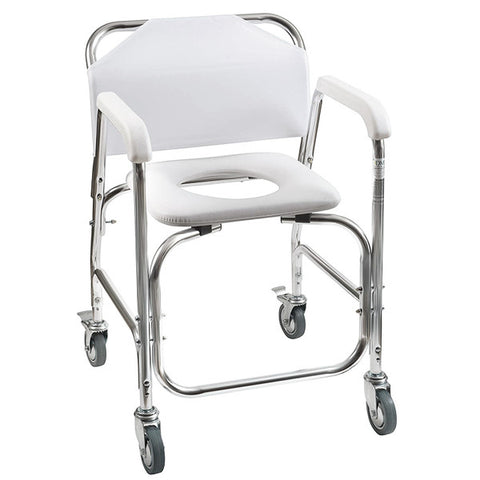 Healthsmart: Dmi® Rolling Shower Padded Transport Chair - 522-1702-1900 - Front View
