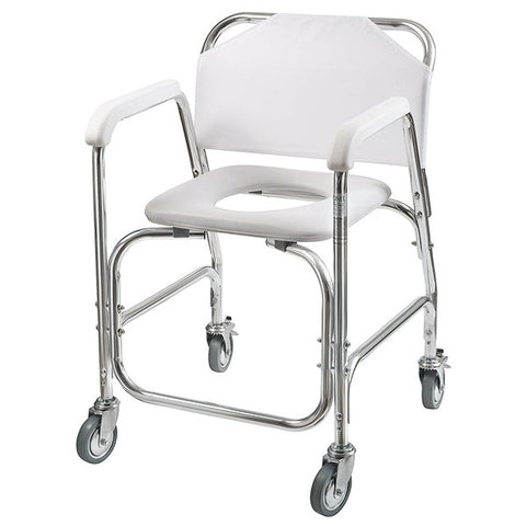 Healthsmart: Dmi® Rolling Shower Padded Transport Chair - 522-1702-1900 - Cornor View