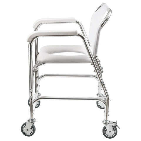 Healthsmart: Dmi® Rolling Shower Padded Transport Chair - 522-1702-1900 - Side View