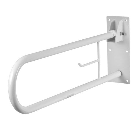 Healthsmart: Fold Away Grab Bar Shower Safety Handrail - 522-3700-1700 - Adjustable with Wall