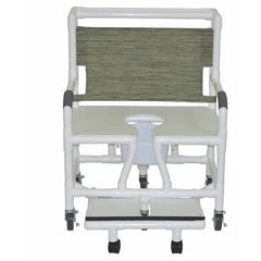 Convaquip: Bariatric Shower Chair With Sliding Footrest - 131-5-SF-WH-DM